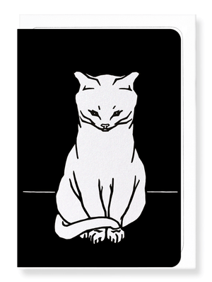 Sitting cat (1918) in white
