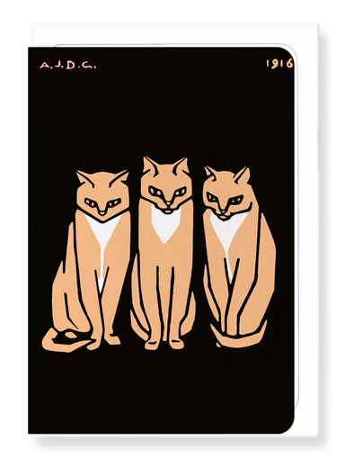 Ezen Designs - Three cats (1916) - Greeting Card - Front