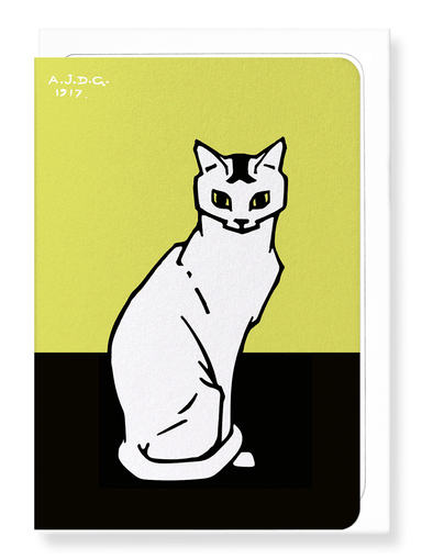 Ezen Designs - Sitting cat (1917) - Greeting Card - Front