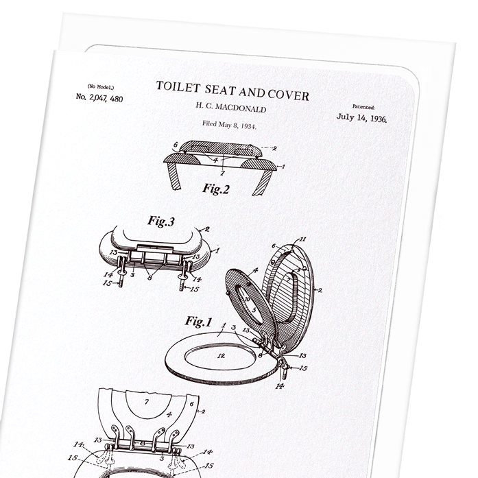 PATENT OF TOILET SEAT AND COVER (1936)