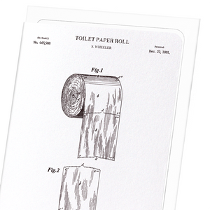 Patent of toilet paper roll (1891)