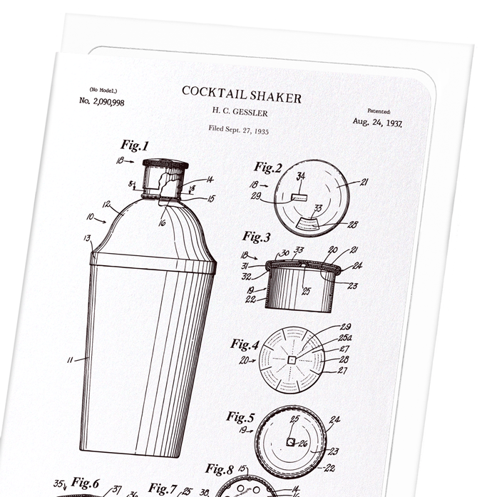 Patent of cocktail shaker (1937)