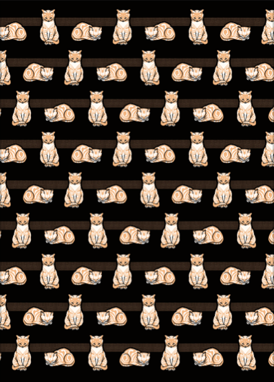 Sitting Cat wrapping paper