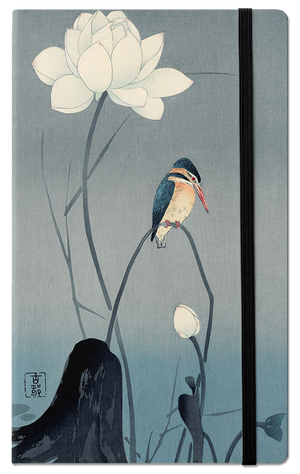 Kingfisher and lotus