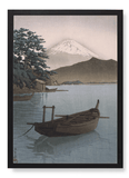 Mount fuji and boat