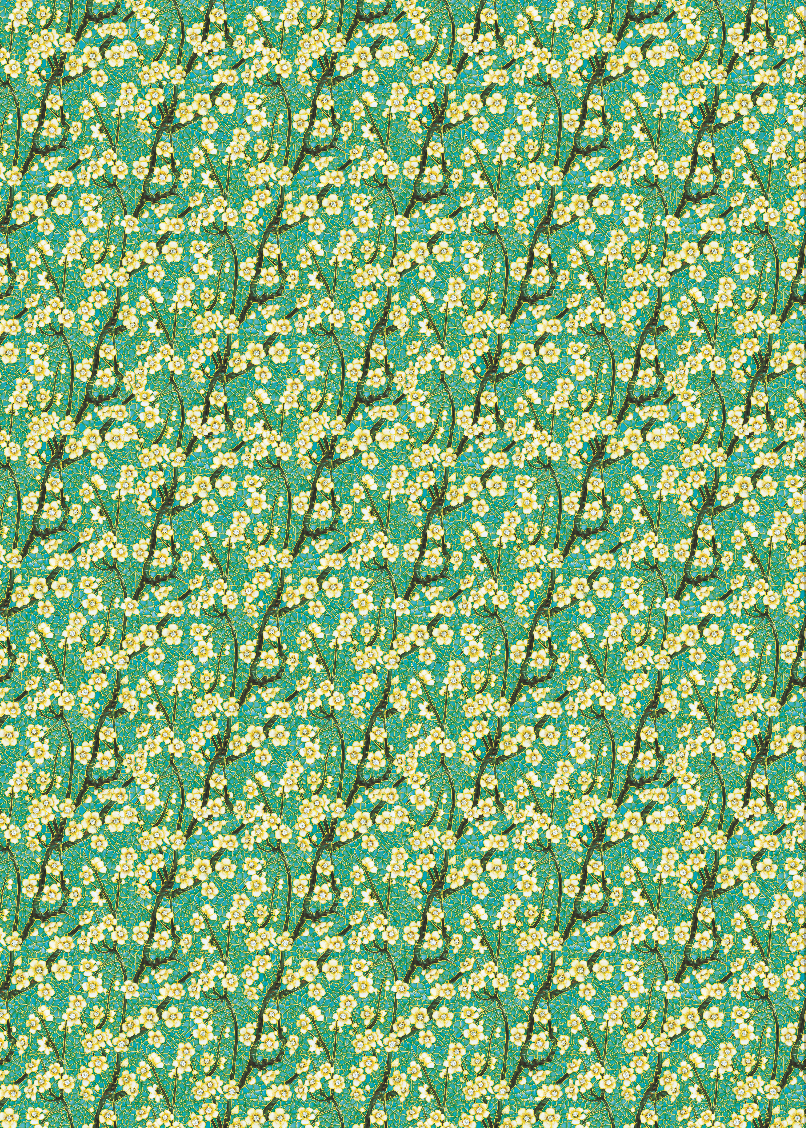 Japonisme blossoms Wrapping paper