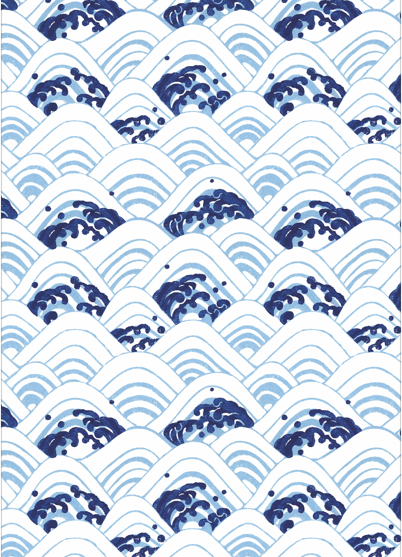 Sea of waves by Shodo wrapping paper