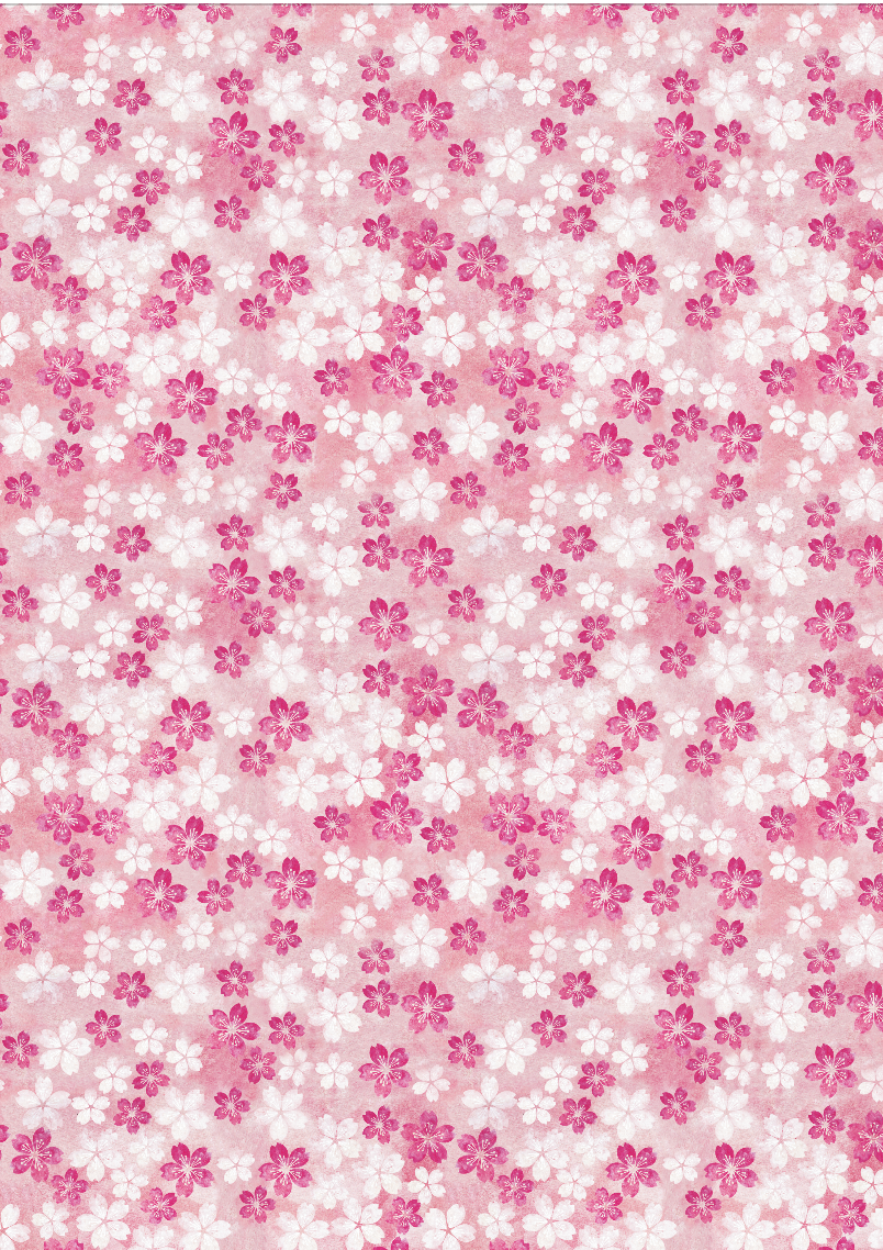 Pink Blossoms wrapping paper