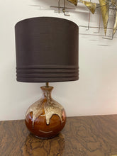 Load image into Gallery viewer, Vintage Glazed Pottery Lamp