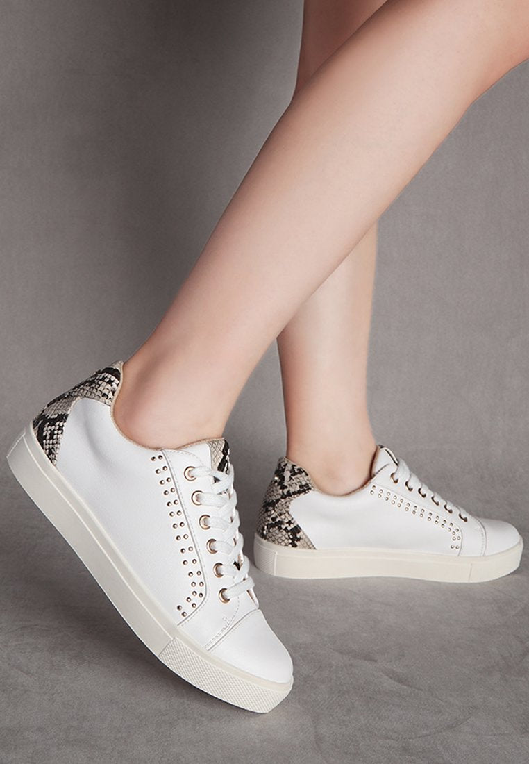 sneakers with metal stud detail