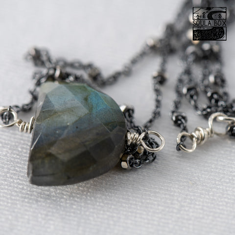 Bathing Beauties Beads providing this DIY Labradorite Necklace Kit!(completed necklace pictured here)