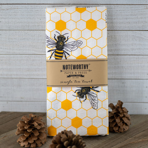 Honey Bees Tea Towel made by Noteworthy Paper & Press!