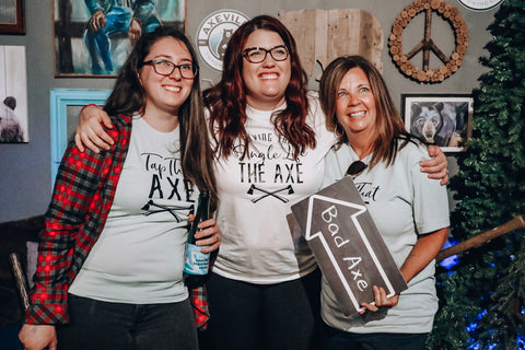 axeville axe throwing bachelorette party shirts tap that axe