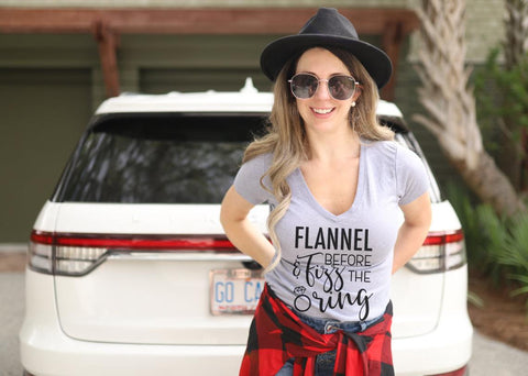 flannel and fizz bachelorette party tees