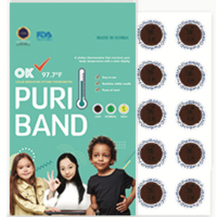 100 Pack - PuriBand Sticker Thermometers - Essential Workers Monitoring Sticker