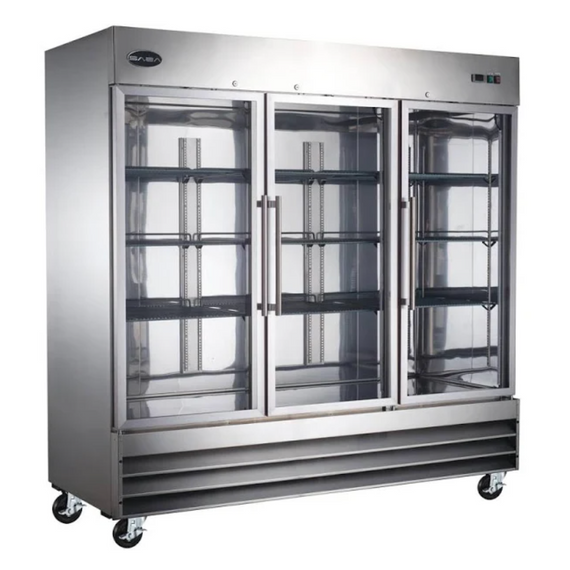 NEW Saba 3 glass door FREEZER. #S-72FG