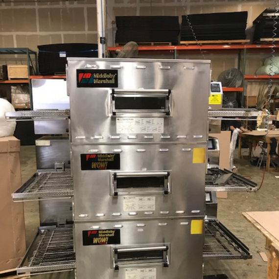 Middleby Marshall Triple Deck Gas Conveyor Ovens #PS840 - Excellent Condition