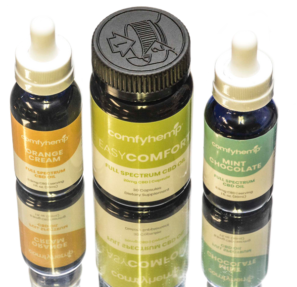 EasyComfort Capsules, Mint & Orange Creme Tinctures