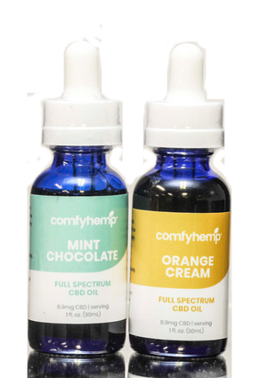 Mint Cholcolate CBD Tincture & Orange Creme CBD Tincture