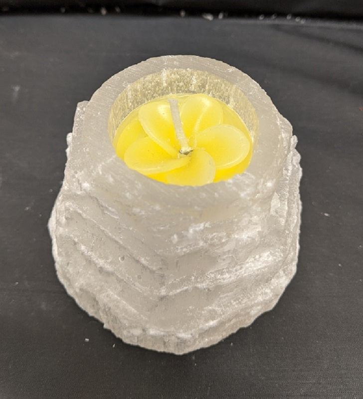 Selenite Tower Tea light Candle Holder