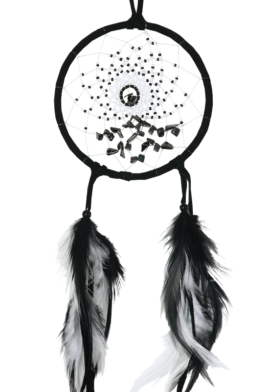 Dreamcatcher, 4in. Energy Flow-Black