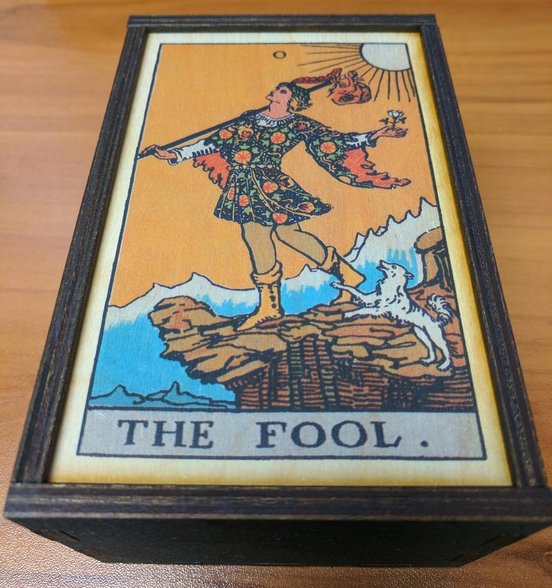 Box, Tarot -1- The Fool Full Color Medium Stash Box