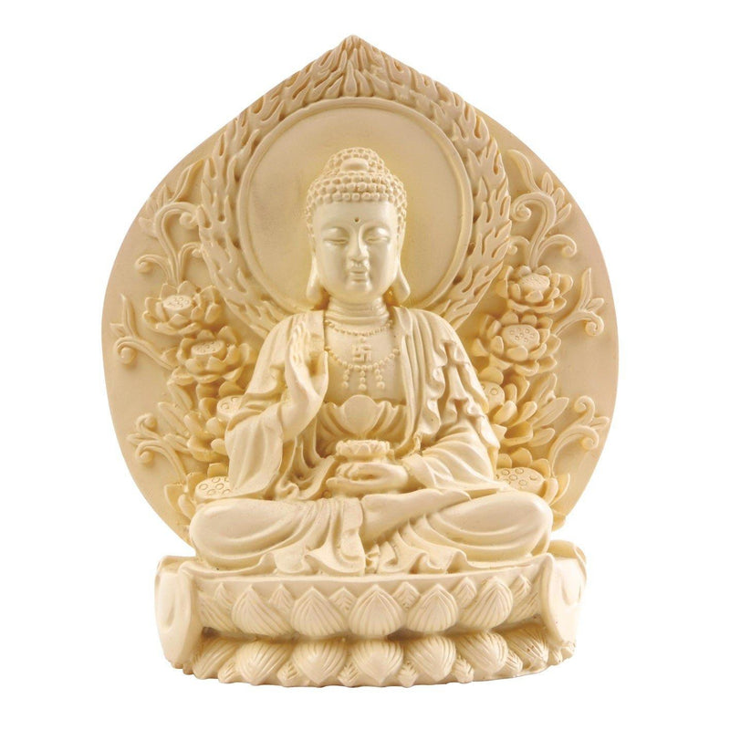 Buddha, Natural Resin 5in.