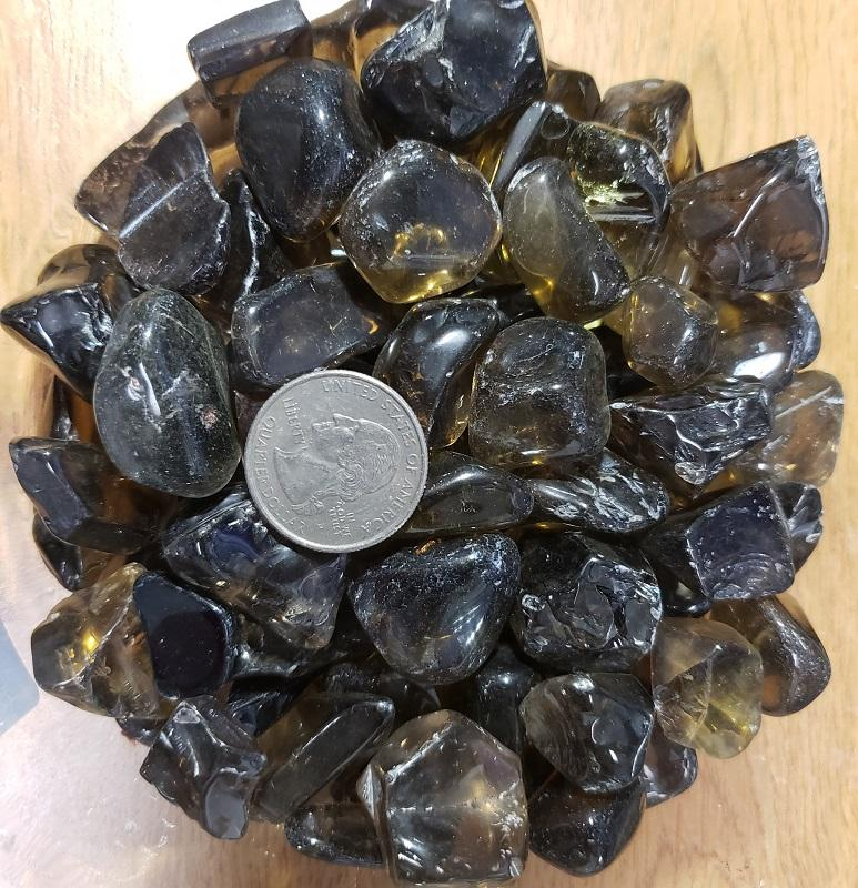 CITRINE/SMOKEY - TUMBLED DARK ASSORTED