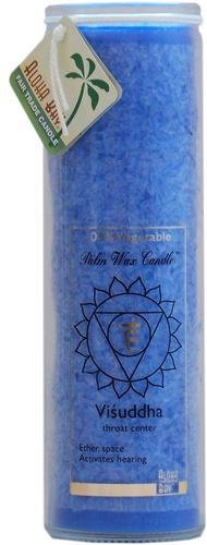 Candle Pillars, Chakra Jar 16oz. Blue Unscented Positive Energy Healing Visuddha