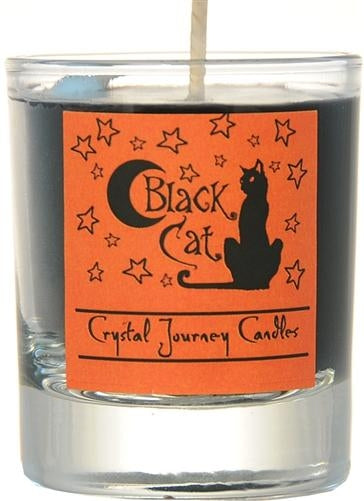 Candle Votive, Soy Jar, Black Cat