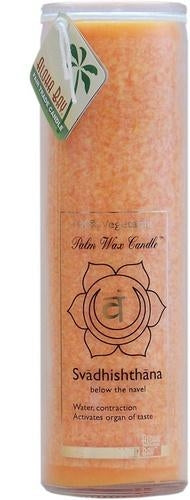 Candle Pillars, Chakra Jar 16oz. Orange Unscented Love Svadhishthana candle