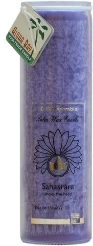 Candle Pillars, Chakra Jar 16oz. Violet Unscented Sahasrara candle