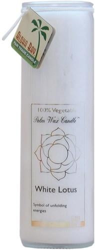 Candle Pillars, Chakra Jar 16oz. White Unscented Lotus candle