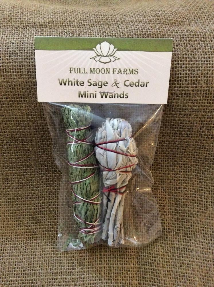 "Sage, White Sage & Desert Sage 4"" mini wands"