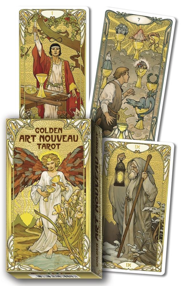 Golden Art Nouveau Tarot Deck
