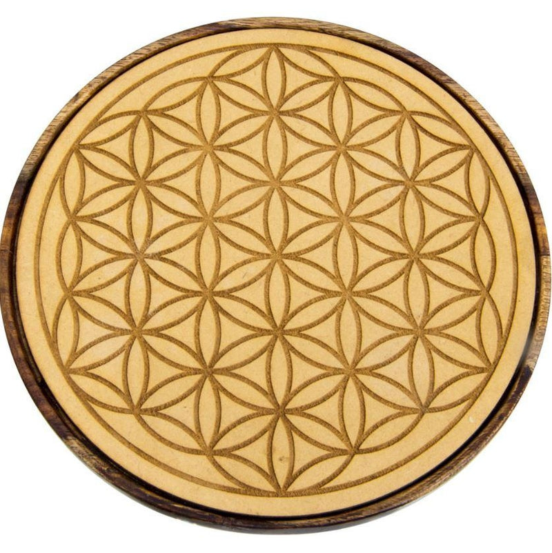 Grid, Wooden Flower of Life