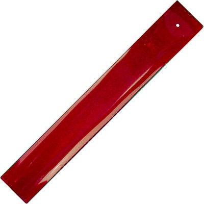 Incense Holder, Glass, Plain Ruby Tray