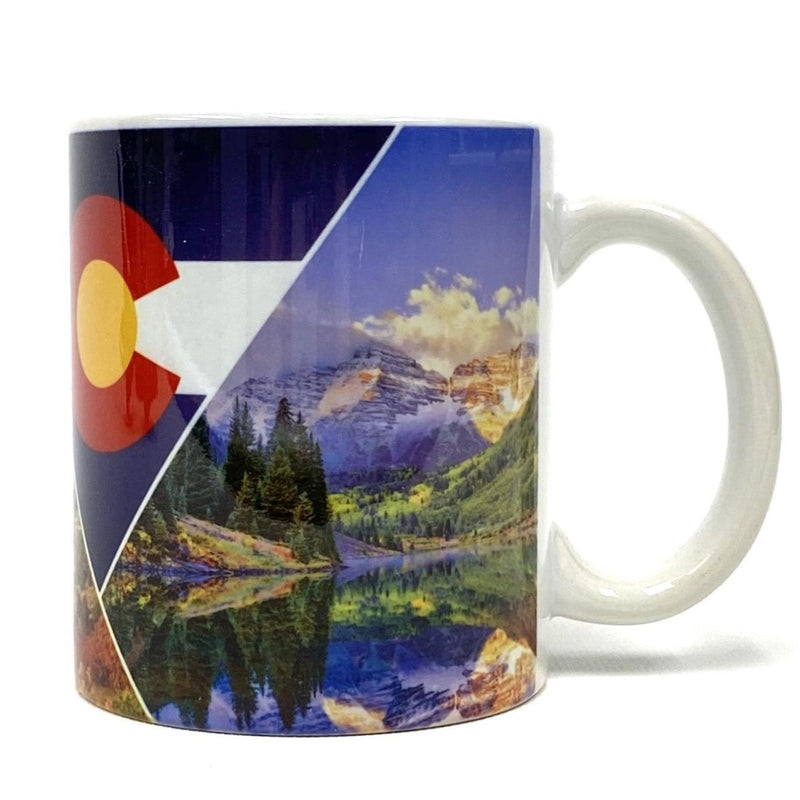 Mug, Colorado Flag Coffee Aspen/Maroon Bells/Garden of the Gods