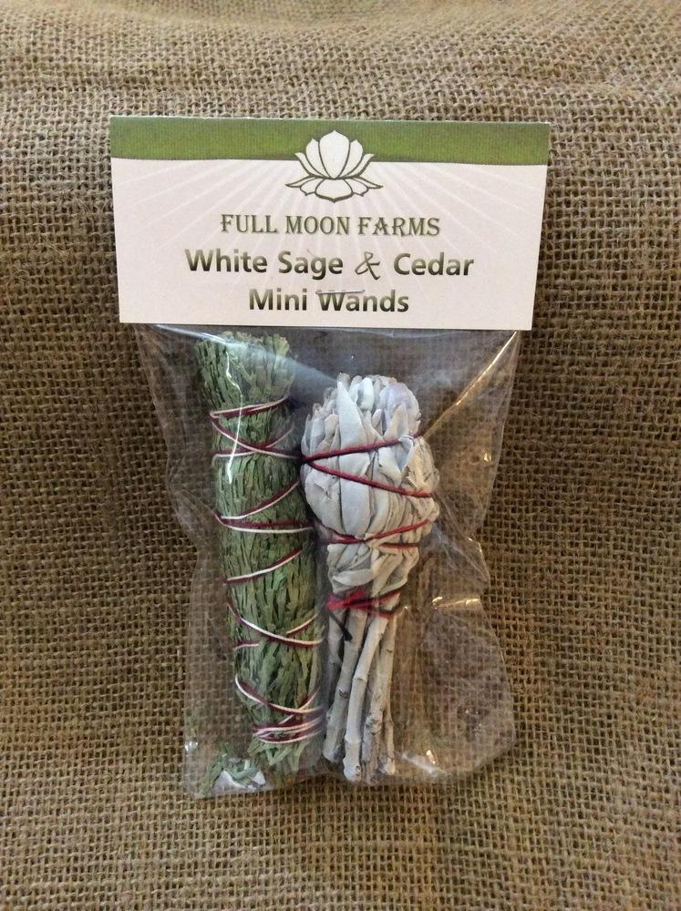 Sage, White Sage & Cedar 2-Pack Wands