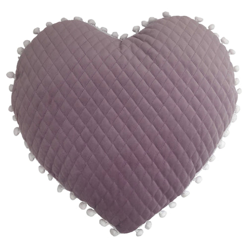 Image of the Heart Pom Pom Kids Ready Filled Cuhion | Lilac | little furn.