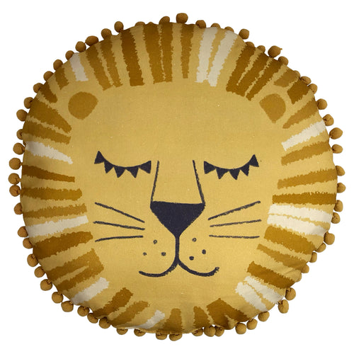 Image of the Lion 770 Kids Ready Filled Cuhion |  Ochre | little furn.