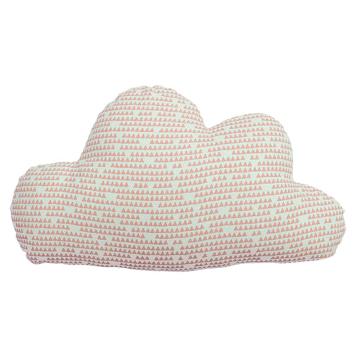 Image of the Printed Cloud Kids Ready Filled Cuhion | Pink | little furn.