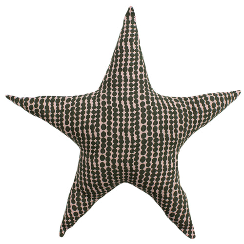 Image of the Printed Star Kids Ready Filled Cuhion | Pink/Mustard | little furn.