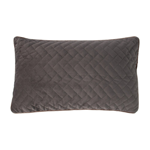 Image of the Tetris Rectangular Quilted Cuhion Cover | Charcoal/Heather | Paoletti