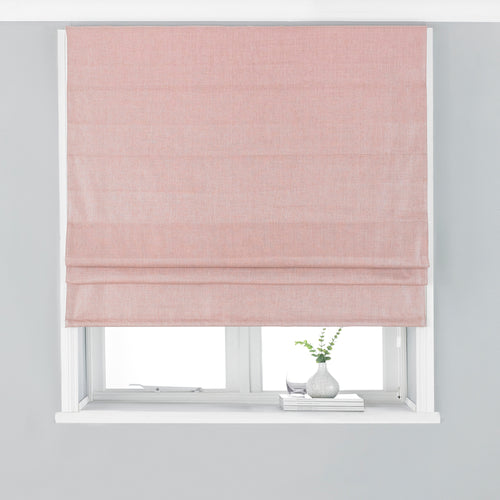 Image of the Atlantic Twill Woven Roman Blind | Blush | Paoletti