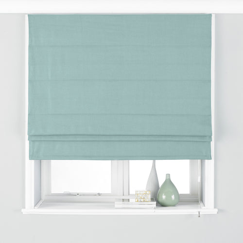 Image of the Atlantic Twill Woven Roman Blind | Duck Egg | Paoletti