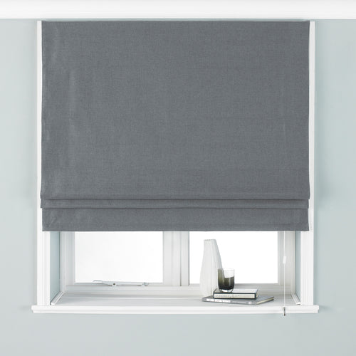 Image of the Atlantic Twill Woven Roman Blind | Grey | Paoletti