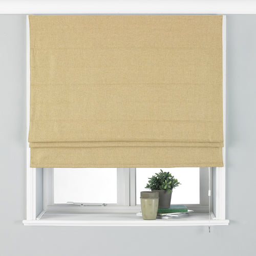Image of the Atlantic Twill Woven Roman Blind | Ochre | Paoletti