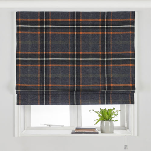 Image of the Aviemore Tartan Faux Wool Roman Blind | Rust | Paoletti