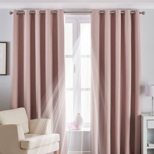 Image of the Twilight Thermal Blackout Eyelet Curtain | Blush | Essentials